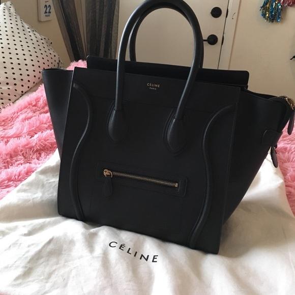 Celine Handbags - Celine Mini Luggage Handbag in smooth calfskin 0e2d2441ab713